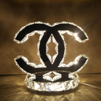 Chanel bordslampa gul